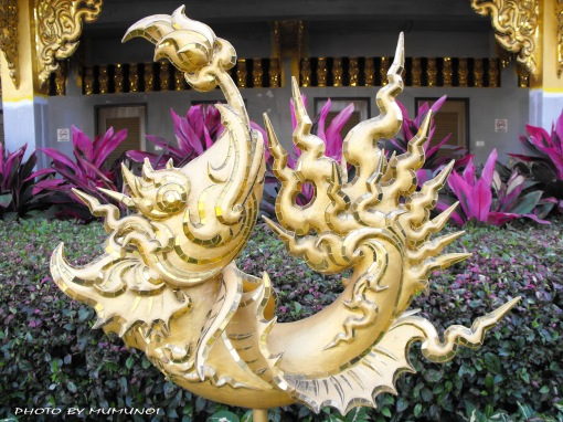 One of the architecture in Wat Rong Khun